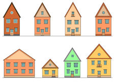 Set of houses. Vector. Stock Image