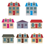 Set of houses Royalty Free Stock Photo