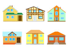 A set of houses Stock Image