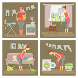 Set of housewife Stock Photography
