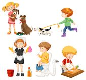 A Set of Housework Activities. Illustration royalty free illustration