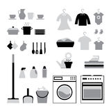 Set of housework icons Stock Photo