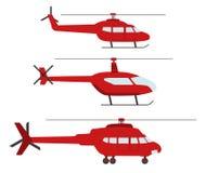 Set Hubschrauber Lizenzfreie Stockfotos