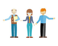 Set of Human Characters Vector in Flat Design. Set of human characters vector. Flat design. Woman and men figures of different ages in casual clothes. Teacher Royalty Free Stock Images