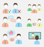 Set of human resources icons Stock Image