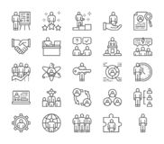 Set of Human Resources Line Icons. Employee, Freelancer, Recruitment and more. vector illustration