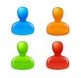 Set of humans icons Stock Photography