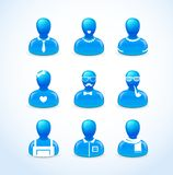 Set of humans icons Royalty Free Stock Photos