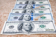Set of hundred american dollar Stock Image