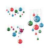 Set of hunging ball decoration Stock Images