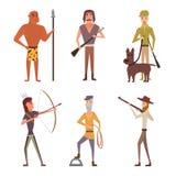 Set hunters vector illustration. Eps10 Stock Images