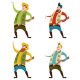 Set of hunters. Vector image of a Set of hunters Royalty Free Stock Photos