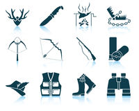Set of hunting icons Stock Photos