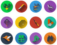 Set of hunting icons Royalty Free Stock Photography