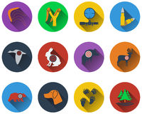Set of hunting icons Royalty Free Stock Images