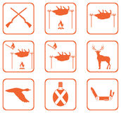Set of Hunting icons Royalty Free Stock Photos