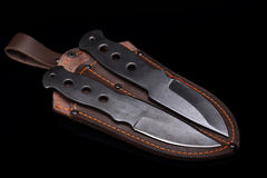 Set of hunting knife Royalty Free Stock Image