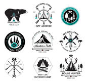 Set of hunting logo, labels and design elements 2 royalty free illustration