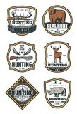 Set of huntings icons Royalty Free Stock Photo