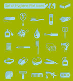Set of hygiene icons Royalty Free Stock Photography