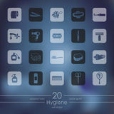 Set of hygiene icons Royalty Free Stock Images