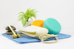 Set hygiene and massage Royalty Free Stock Images