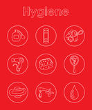 Set of hygiene simple icons Royalty Free Stock Photos