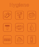 Set of hygiene simple icons Stock Images