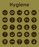 Set of hygiene simple icons Royalty Free Stock Photo
