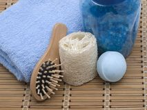 Set of Hygienic. Cleansing Supplies stock photos