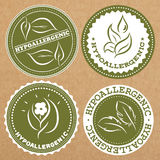 Set of hypoallergenic badges, icons, sticker layouts.  Stock Photos