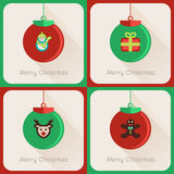 Set I of greeting cards Christmas ball Royalty Free Stock Photo