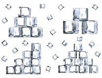Set of ice blocks. Royalty Free Stock Photography