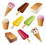 Set of ice cream Stock Photos