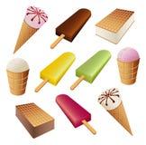 Set of ice cream Stock Photos