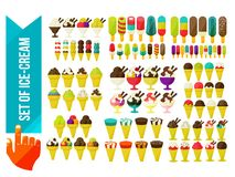 Set of ice cream in a bowl Royalty Free Stock Images