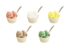 Set of ice cream Royalty Free Stock Images