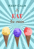 Set of ice cream cones. Vector illustration EPS Stock Images