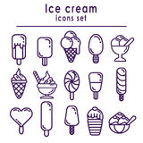 Set of ice cream icons Stock Images