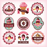 Set of ice cream labels Royalty Free Stock Photos