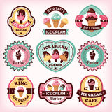 Set of ice cream labels Royalty Free Stock Photo