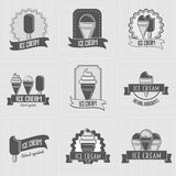Set of ice cream logo, badges, labels Stock Photo