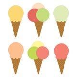 Set of ice cream. vector illustration Stock Image