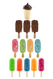 Set of ice creams Stock Photos