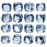 Set of Ice Cubes Royalty Free Stock Image