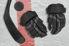 Set on ice hockey accessories Stock Photos