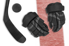 Set on ice hockey accessories Stock Image