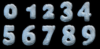 Set of Ice Numbers Stock Photos