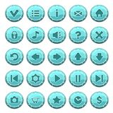 Set of ice round buttons Stock Photography