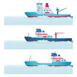 Set. Icebreakers Royalty Free Stock Images